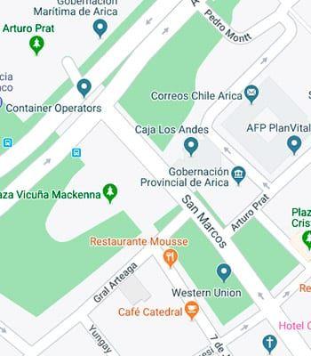 Mapa Arica 350x400