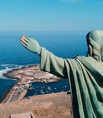 Cristo de la Paz en el Morro de Arica