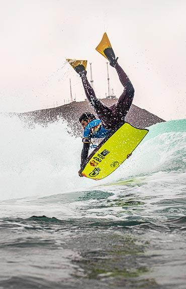Bodyboard Isla El Alacran deportista Corde Costero Arica
