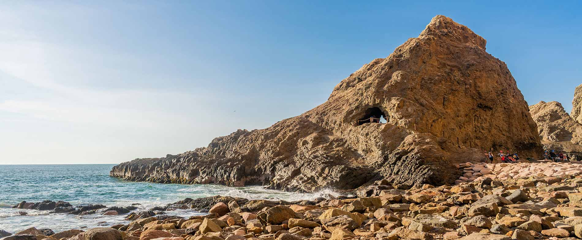 Cuevas de Anzota vista cuevas borde costero Arica