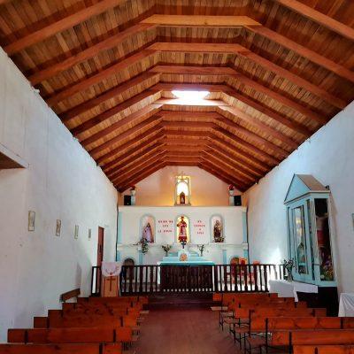 Iglesia Poconchile vista interior