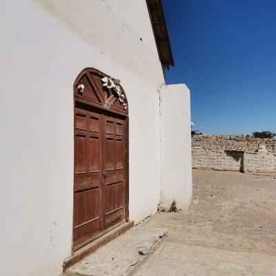 Iglesia Pueblo de Molinos Valle de Lluta fachada puerta