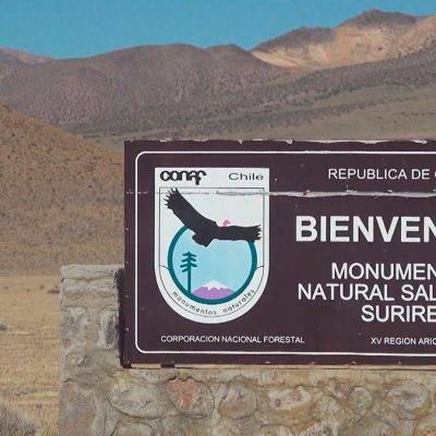 Monumento Natural Salar de Surire señaletica CONAF