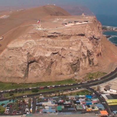 Morro de Arica vista aérea frontal