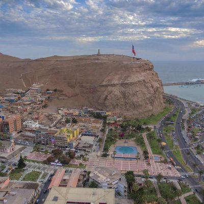 Morro de Arica vista ciudad y borde costero sur