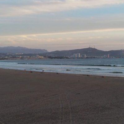 Playa Las Machas vista Morro de Arica