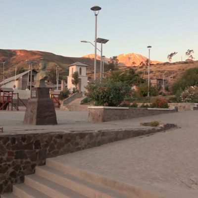 Plaza de Armas Putre altiplano Arica y Parinacota