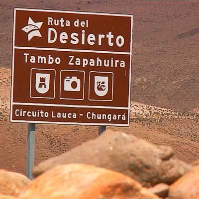 Señaletica Tambo Zapahuira Altiplano Arica y Parinacota