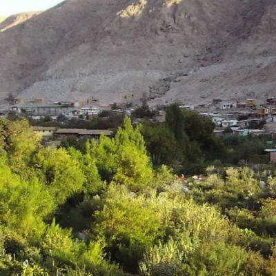 Vista del Valle de Codpa desde el camino de acceso
