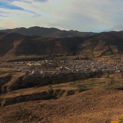 Vista Putre altiplano Arica y Parinacota